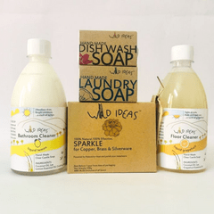 Wild Ideas Home Cleaning Essentials with Laundry Bar Soap