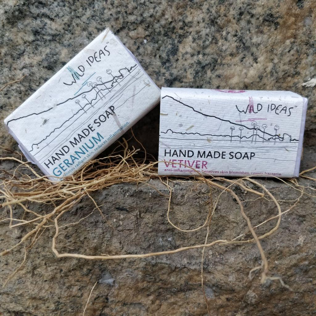 Wild Ideas Soaps Geranium and Vetiver Combo