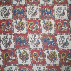 Aarika Kalamkari Blouse Fabric Pack (Rangoli)