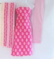 Aarika Pink Cotton Chudithar Material