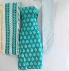 Aarika Light Sea Green Cotton Chudithar Material