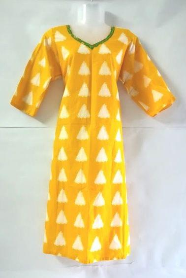 Aarika Yellow Jaipuri Cotton Kurta