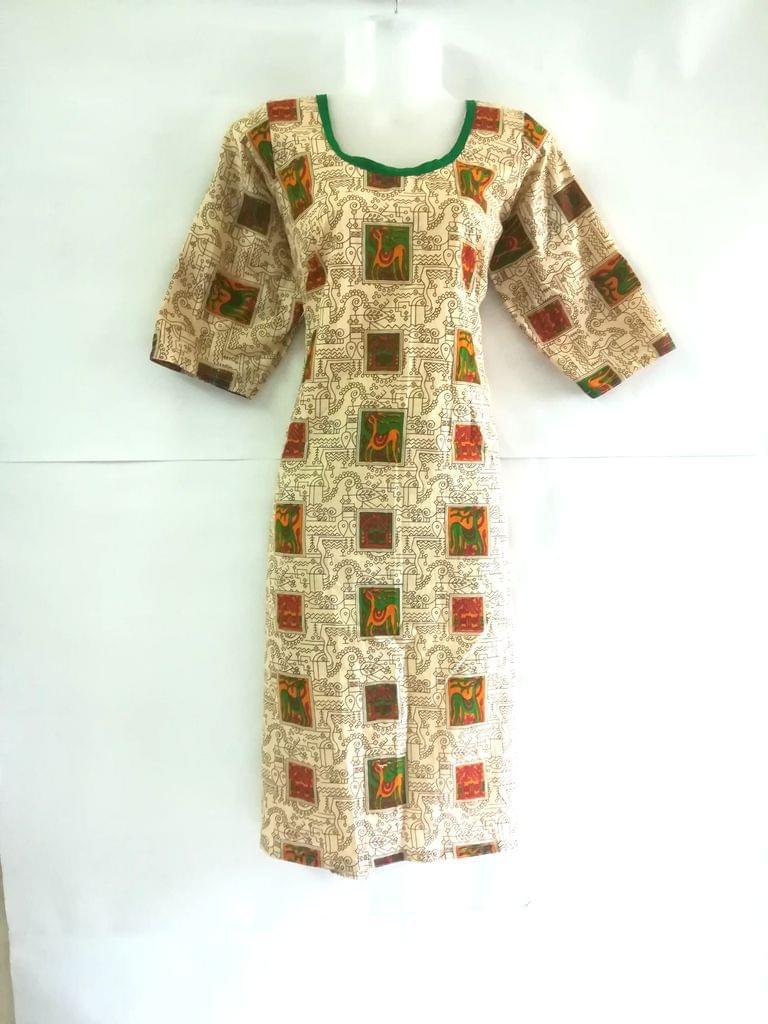Aarika Beige Jaipuri Cotton Kurta