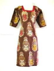 Aarika Kalamkari Cotton Kurta with Kathakali Prints
