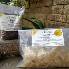 Wild Ideas Organic Vadam -  Thinai (Foxtail Millet) Yelai Vadam and  Ragi (Finger Millet) Vadam