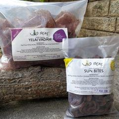 Wild Ideas Organic Vadam - Ragi (Finger Millet) Yelai Vadam and  Ragi (Red Chilli) Vadam