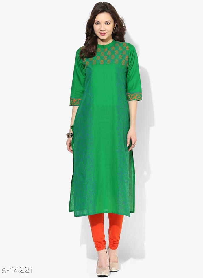 Aarika Green Cotton Kurta