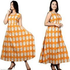 Aarika Kalamkari Cotton Dress with Devi Print