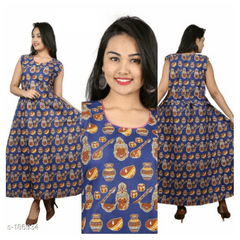 Aarika Kalamkari Cotton Dress