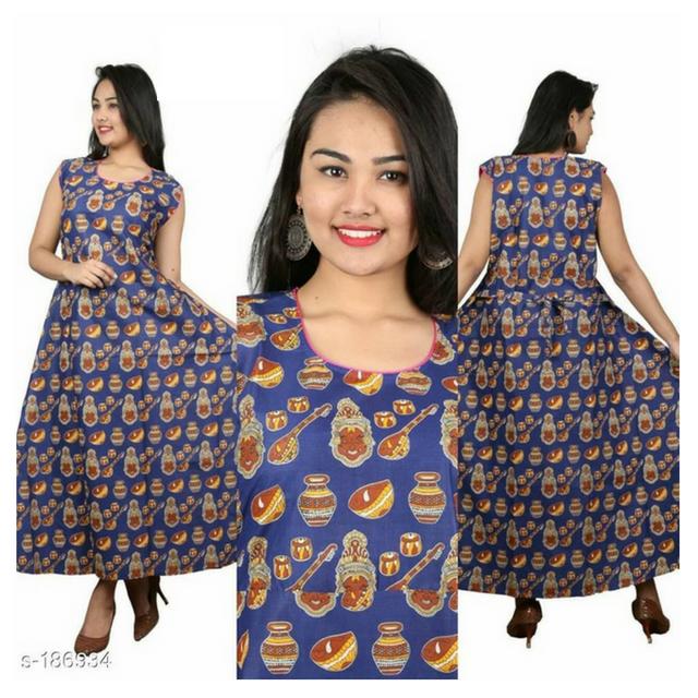 Aarika Kalamkari Cotton Dress