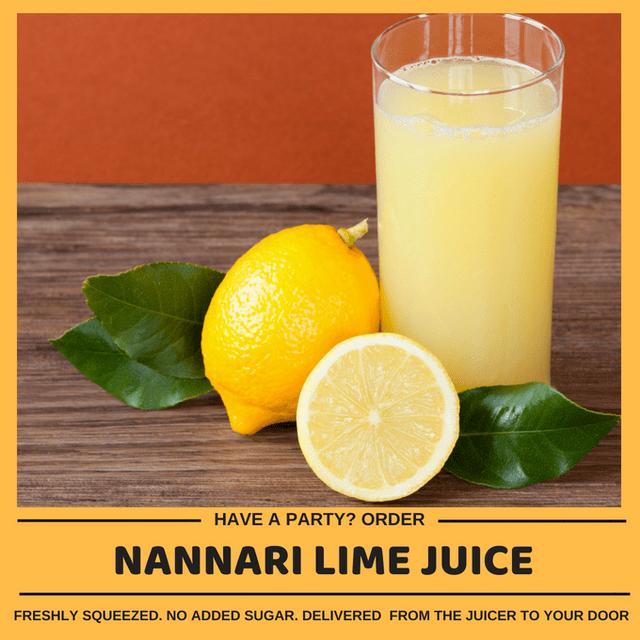 Kid-friendly Freshly Made Nannari Lime Cooler (Min order 30 units)