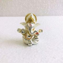 Smile Decors Matt Finish Silver/Gold Plated Ganesha Idol