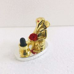Smile Decors Gold Plated Shivling Ganesha