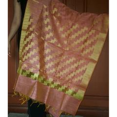 Kadaivedhi Silk Cotton Rajputhri Zari Work Dupatta