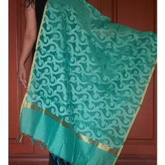 Kadaiveedhi Jaipur Silk Cotton Dupatta with Self Design