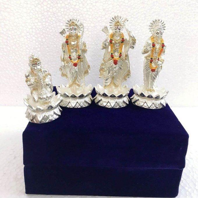Smile Decors Silver Plated Ram Darbar