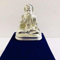 Smile Decors Silver Plated Gurunanak Idol