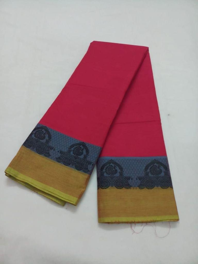 Pink Pearls Pink Chettinadu Cotton Saree