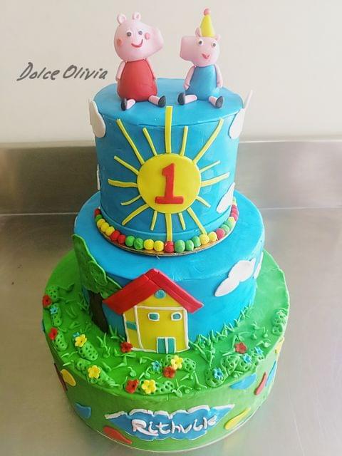 Dolce Olivia Peppa Theme Cake (3kgs)