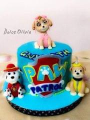 Dolce Olivia Paw Patrol Theme Cake (1kg)