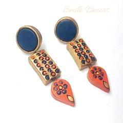 Smile Decors Blue Terracotta Earrings