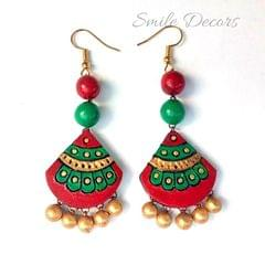 Smile Decors Maroon Terracotta Earrings