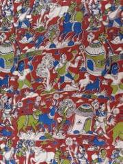 Pink Pearls Kalamkari Cotton Running Material