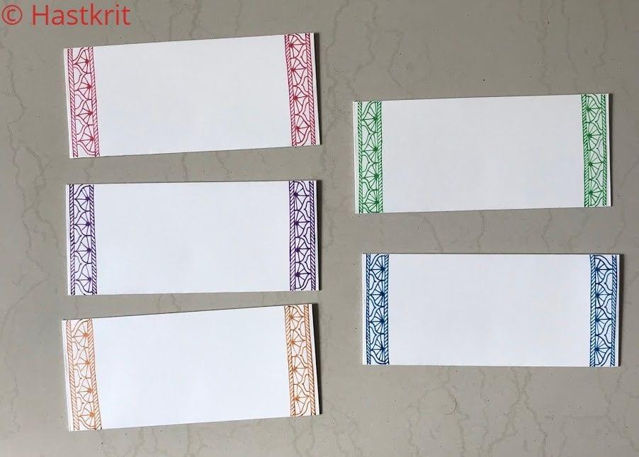 Hastkrit Border Shagun Envelopes