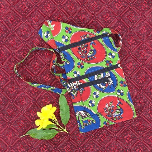 Aarika Light Green Cotton Handy Sling Bag
