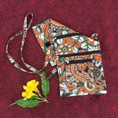 Aarika Orange Cotton Handy Sling Bag
