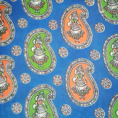 Aarika Kalamkari Cotton Running Material with  Naachni Prints