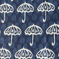 Aarika Indigo Umbrella Cotton Running Material