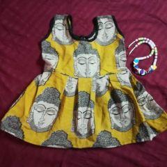 Aarika Yellow Kalamkari Buddha Frock