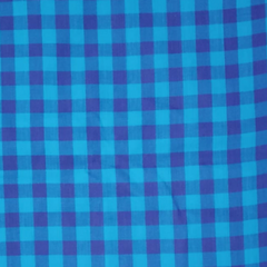 Aarika Blue Checked Cotton Running Material