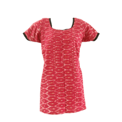 Aarika Pink Cotton Ikkat Short Top