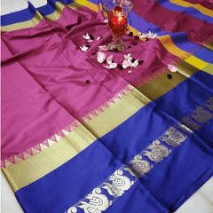 Aarika Pink Silk Cotton Saree