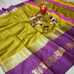 Aarika Mustard Silk Cotton Saree