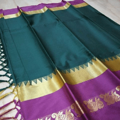 Aarika Green Silk Cotton Saree