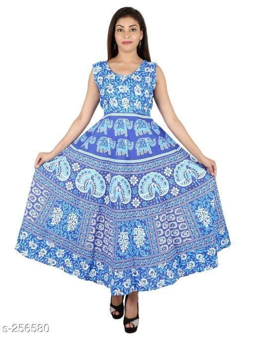 Aarika Light Blue Jaipuri Cotton Kurti