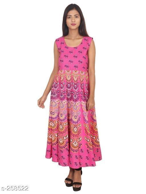 Aarika Pink Jaipuri Cotton Kurti