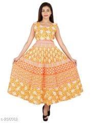Aarika Orange Jaipuri Cotton Kurti
