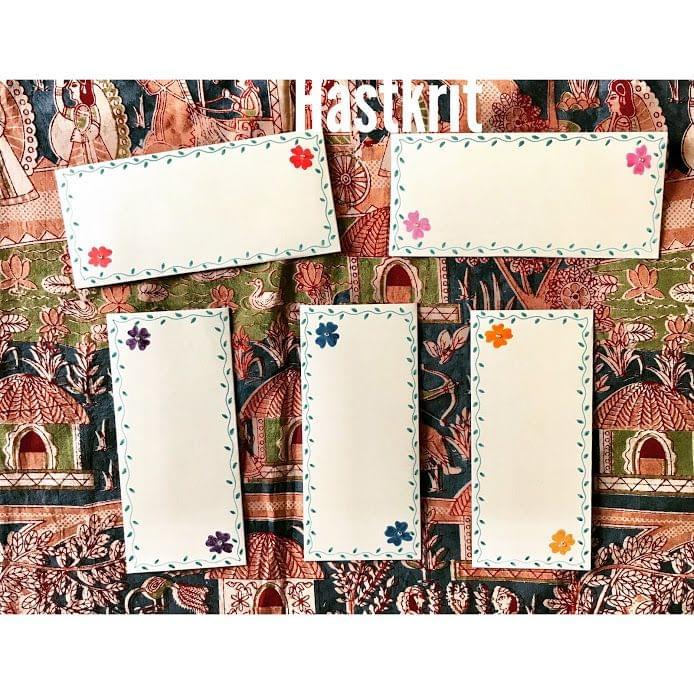 Hastkrit Border Flower Design Shagun Envelopes