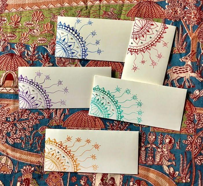 Hastkrit Corner Design Shagun Envelopes