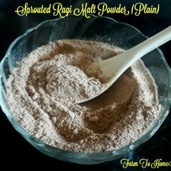 Farm To Home - Plain Sprouted Ragi Powder (6+ Months)