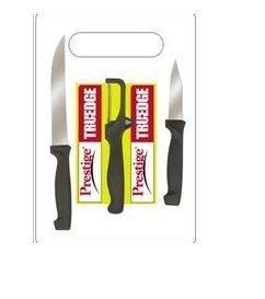 Prestige Tru-Edge 99576 Kitchen Knife Set with Cutting Board 3 Pieces 99576