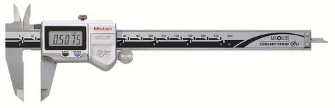 "Mitutoyo 500-752-10 Digital Calipers, Battery Powered, Inch/Metric, for Inside, Outside, Depth and Step Measurements, Stainless Steel, 0""/0mm-6""/150mm Range, +/-0.001""/0.01mm Accuracy, 0.0005""/0.01mm Resolution, Meets IP67 Specifications"
