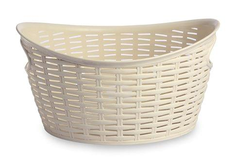 All Time Plastics Rattan Plastic Open Storage Bin, 9 Litres, Cream 9OVALCREAM