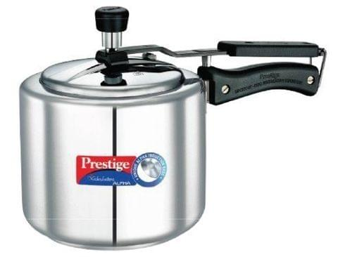 Prestige Nakshatra Alpha Induction Base Stainless Steel Pressure Cooker, 3 Liters, Silver 20512