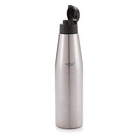 Sizzle Leak Proof Stainless Steel Water Bottle, 1000 ml, Grey SZ-SFB-516