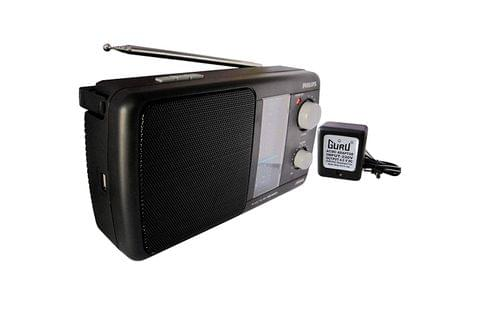 USB (MP3-Media) / FM / MW Player With Inbuilt-Rechargeable Battery and Guru AC-DC Adapter